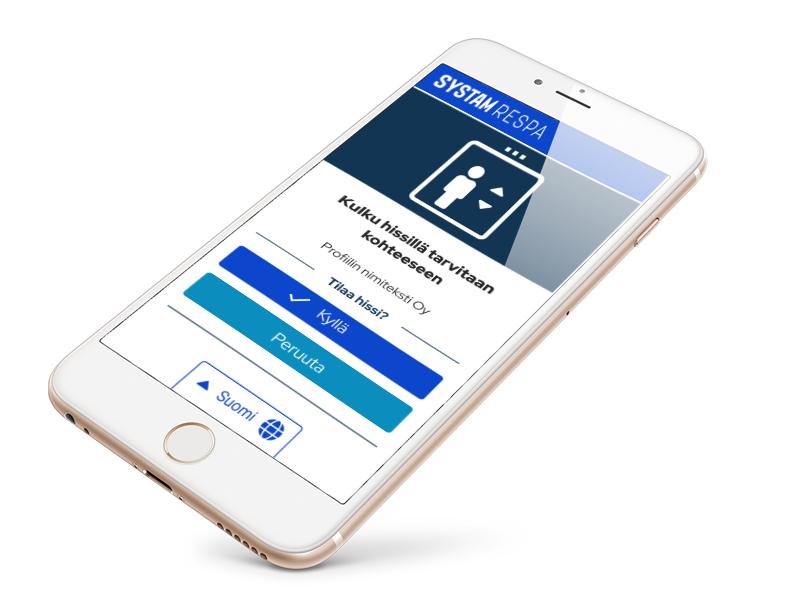 Systam lift app UI