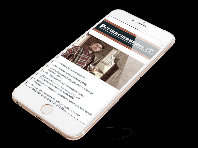 Perinnemuuraus mobile website frame